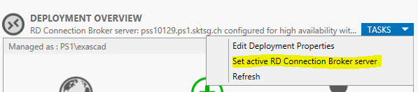 RD Connection Broker Config sync failed  Following error occurred