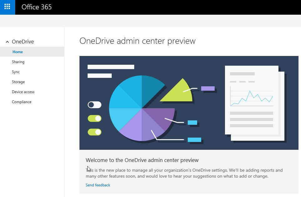 First look at the new #OneDrive Admin Center (Preview)