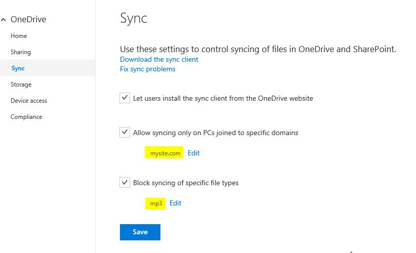 onedrive-for-business-admin-preview-sync