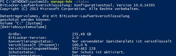 Change BitLocker Drive encryption to XTS-AES 256 during OSD